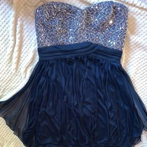 Sparkly Blue Cocktail Dress
